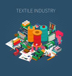 Isometric textile print background vector