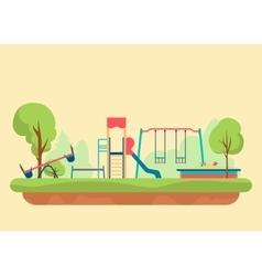 kids playground flat style set design elements vector image