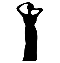 Lady silhouette vector