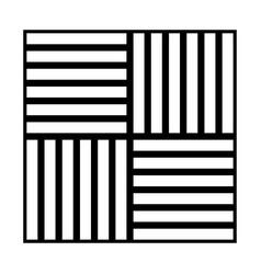 Laminate flooring black color icon vector