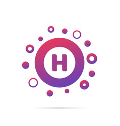 letter h with group of circles abstract logo icon vector image vector image