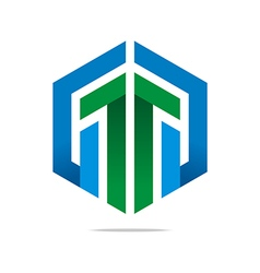 Logo Abstract Infinity Arrow Symbol Design Icon vector