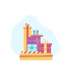 Lots of gift boxes for Christmas vector image