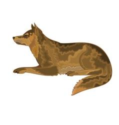 Lying-dog vector