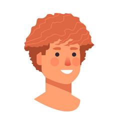Man head avatar beautiful human face male cartoon vector