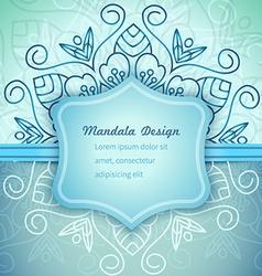 Mandala Blue invitation lace vector