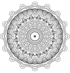 mandala like round vintage ethnic ornament vector image