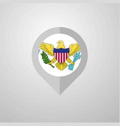 Map navigation pointer with virgin islands us vector