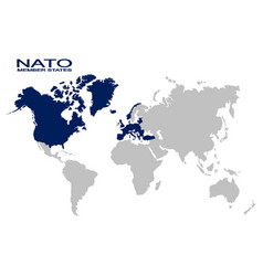 Map with nato member state vector