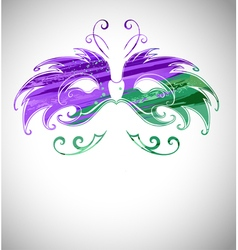 Mask Painted with Paint vector image