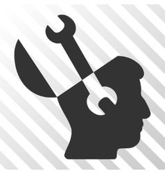 Mind Wrench Tools Icon vector image