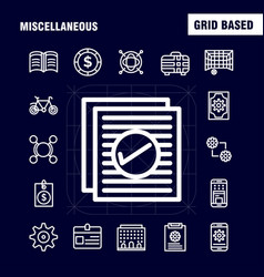 Miscellaneous line icons set for infographics vector