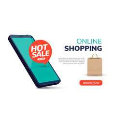Online mobile shop ecommerce order entertainment vector
