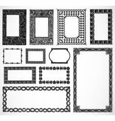 Ornate border frames vector