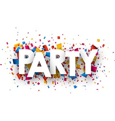 Party sign vector