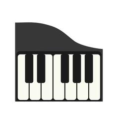 Piano instrument music sound icon graphic vector