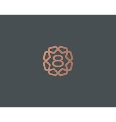 Premium number 8 logo icon design Luxury vector