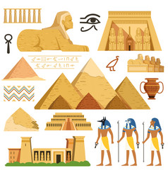 Pyramid of egypt history landmarks cultural vector