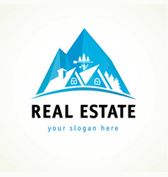real estate logo rock vector image