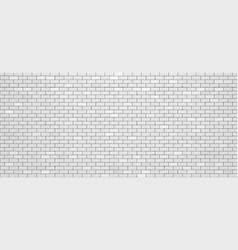 realistic white brick wall vector image