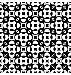 Seamless floral pattern geometric ornament vector