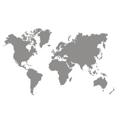 set of monochrome icons with world continents vector image