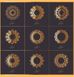 Set of oriental mandala vector