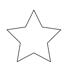 Star award winner prize line image vector