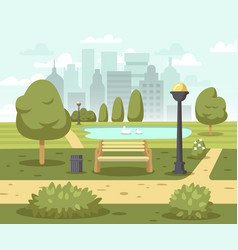summer city park background vector image