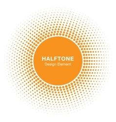 Sun Circle Halftone emblem Design Element vector image