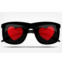 Sunglasses with a heart vector image