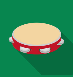 Tambourine icon in flate style isolated on white vector