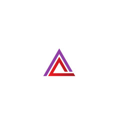 Triangle line business company logo vector