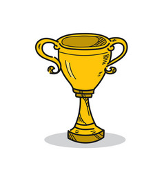 Trophy on a white background vector