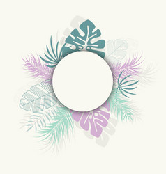 Tropical design with colorful palm leaves vector