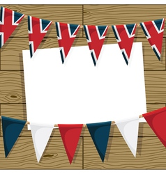Uk bunting decoration vector