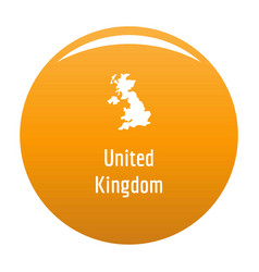 united kingdom map in black simple vector image