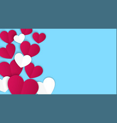 valentines day concept background paper hearts vector image