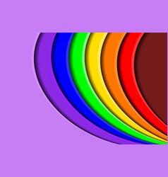 vibrant rainbow paper cut background vector image