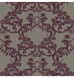 Vintage Floral Baroque Damask Pattern vector