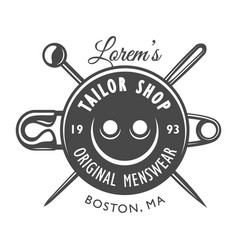 vintage tailor logo concept vector image