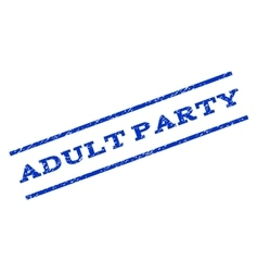 Adult Party Watermark Stamp vector image