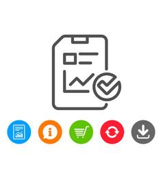 Report document line icon checklist vector