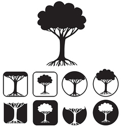 tree emblem vector image vector image