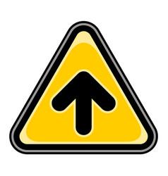 Arrow upload sign triangular sticker vector