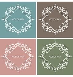 Monogram Design Frame vector image