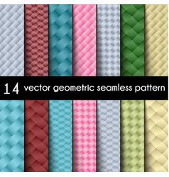 wallpaper set geometric seamless background vector image
