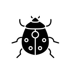 bug icon black sign on vector image