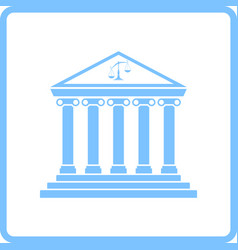 courthouse icon vector image vector image