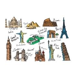 hand drawn travel vector image
